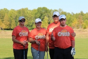 golfers wearing crush shirts